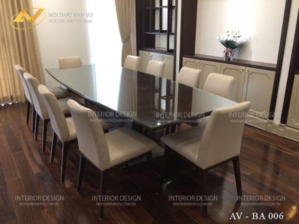 Mẫu bàn ăn đẹp 10 ghế AV-BA 006 - Nội thất Anh Vũ