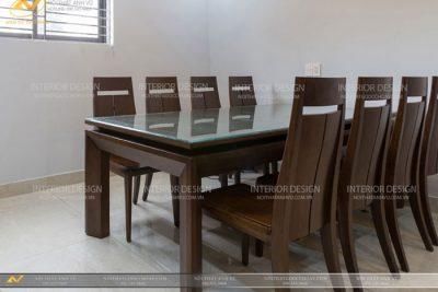 Bàn ăn 8 ghế hiện đại AV-BA 018 - Nội thất Anh Vũ