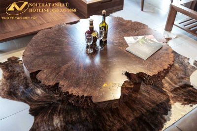 Bàn trà gỗ nguyên khối đẹp AV-BT 008 - Nội thất Anh Vũ