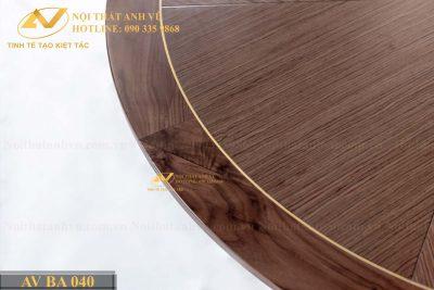Bàn ăn tròn 6 ghế gỗ óc chó cao cấp AV-BA 040 - Nội thất Anh Vũ