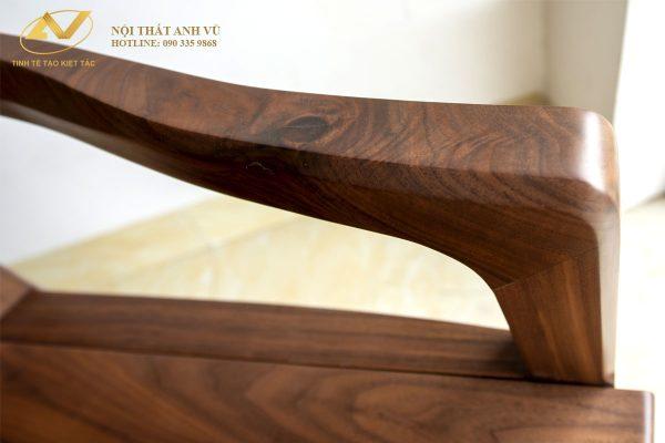 Ghế ăn gỗ tự nhiên óc chó AV-GA 002 - Nội thất Anh Vũ