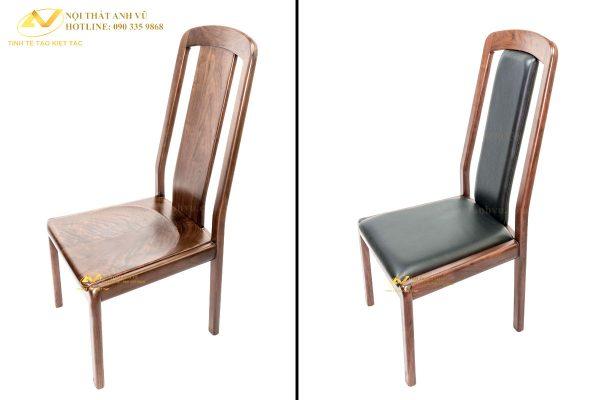 Ghế gỗ nguyên tấm óc chó AV-GA 013 - Nội thất Anh Vũ