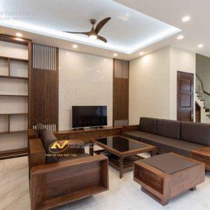 ghế sofa gỗ óc chó avsf 018-1