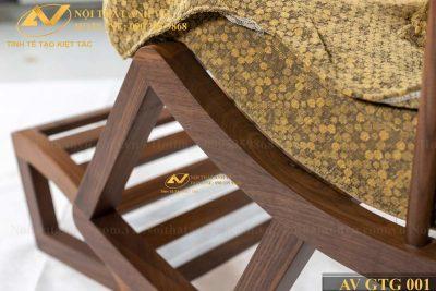 Ghế thư giãn bập bênh gỗ óc chó cao cấp 001 - Nội thất Anh Vũ