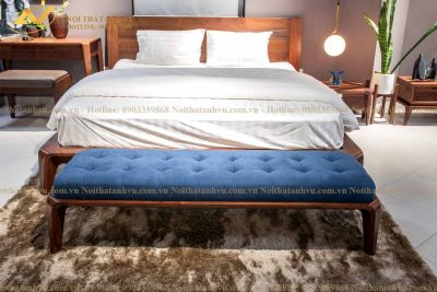 Giường ngủ gỗ óc chó cao cấp 001 - Nội thất Anh Vũ