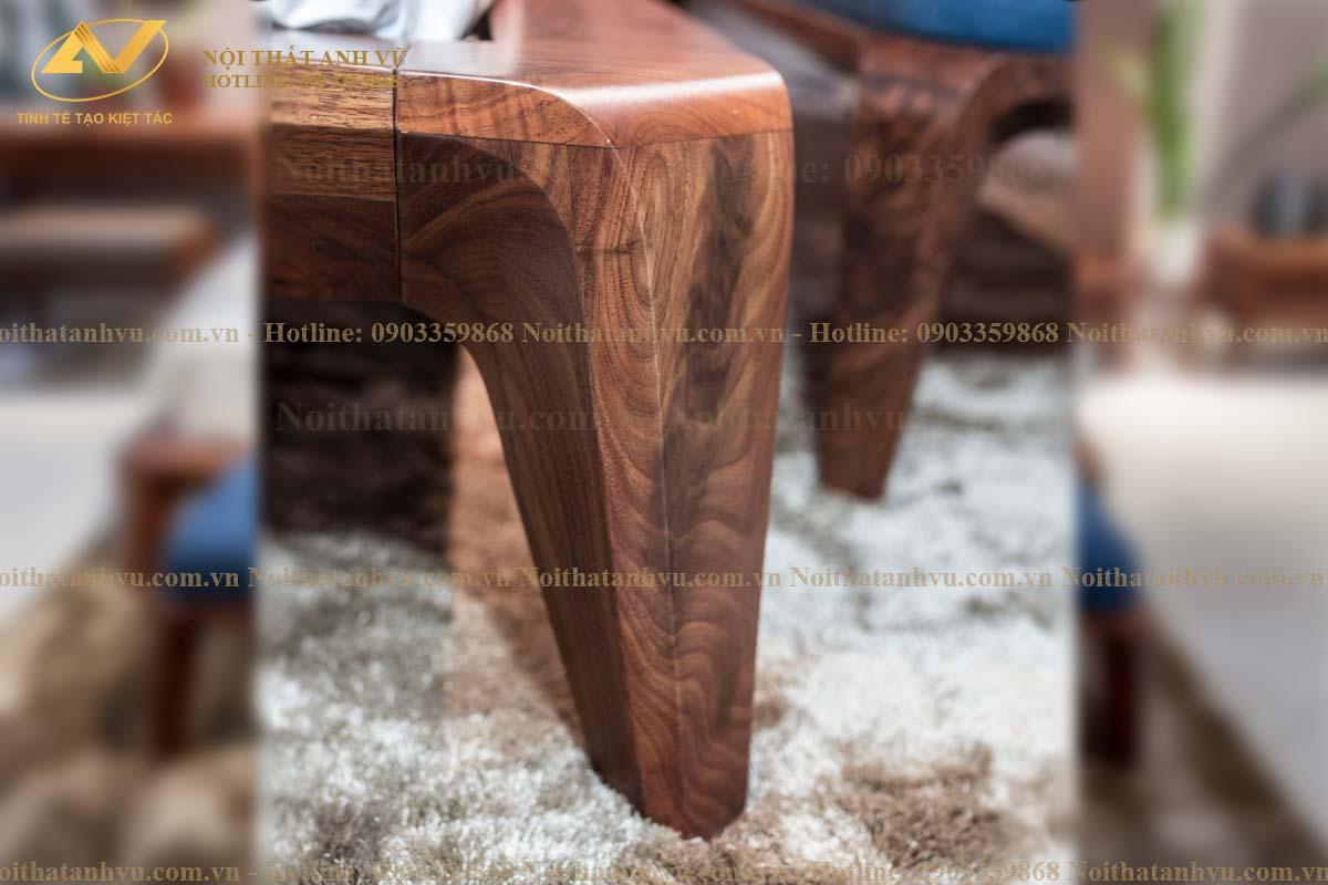 Giường gỗ tự nhiên óc chó cao cấp 001 - Nội thất Anh Vũ