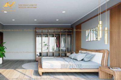 Giường ngủ gỗ óc chó cao cấp 002 - Nội thất Anh Vũ