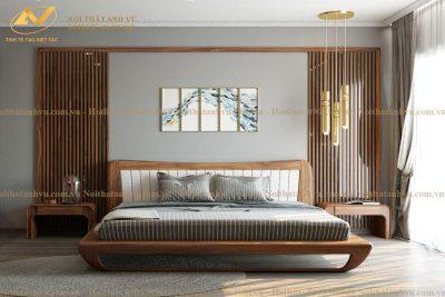 Giường ngủ gỗ cao cấp AV-GN 002 - Nội thất Anh Vũ