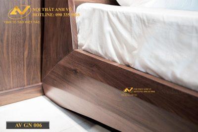 Giường bay gỗ óc chó cao cấp 006 - Nội thất Anh Vũ