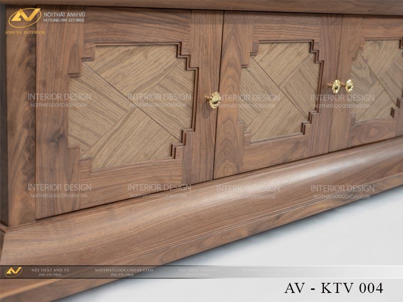kệ tivi gỗ óc chó sang trọng AV KTV 004