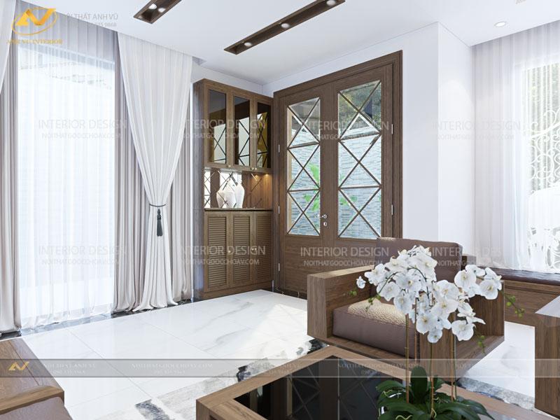 Mẫu thiết kế nội thất biệt thự cao cấp Mr. Hà - Gỗ óc chó Anh Vũ