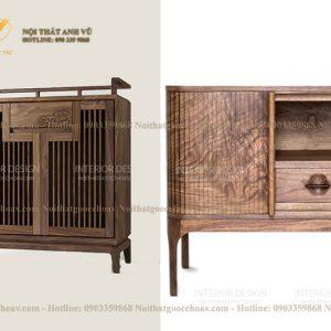 tủ trang trí gỗ óc chó avtt001002-1