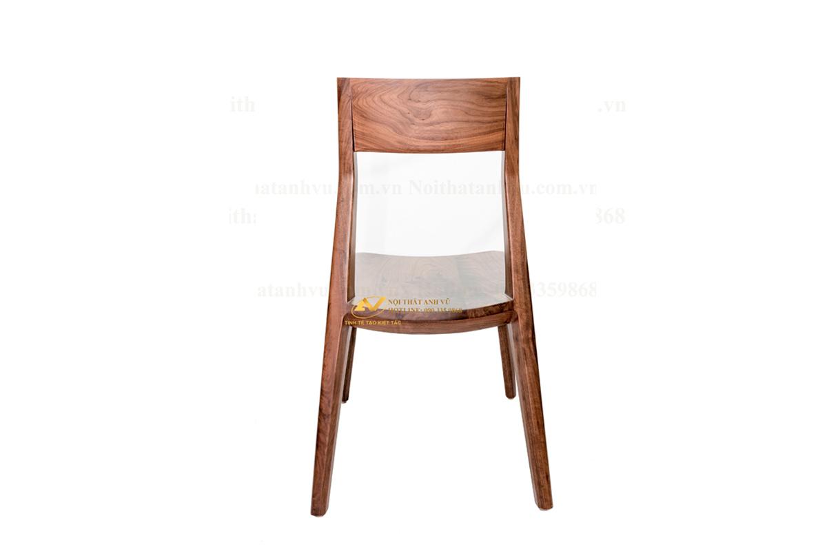 Ghế mango gỗ óc chó lùn 0112 - Nội thất Anh Vũ