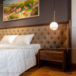 tab đầu giường gỗ óc chó avtdg 003-3