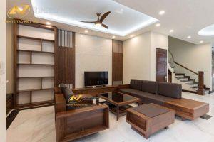 thi công nội thất phòng khách mr Hoàng Vinhome Long Biên