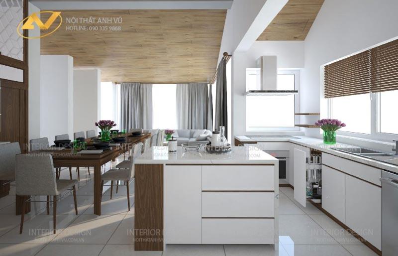 thiết kế nội thất phòng ăn đẹp sang trọng mrs Linh Hưng Yên