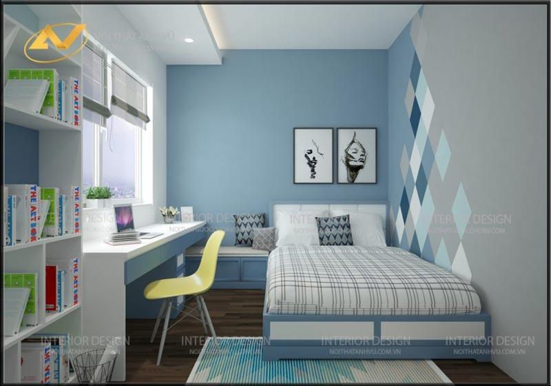 thiết kế nội thất phòng ngủ đẹp con mrs Linh Hưng Yên