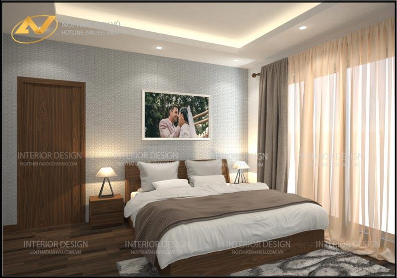 thiết kế nội thất phòng ngủ mrs Linh Hưng Yên