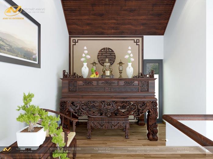 thiết kế nội thất biệt thự phòng thờ mr Thiệp Long Biên Hà Nội