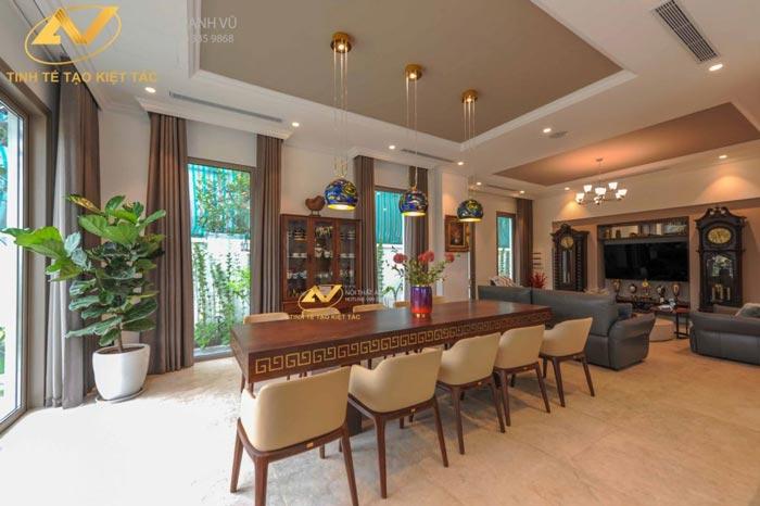 thiết kế nội thất biệt thự tại Long Biên Hà Nội phòng bếp Mr Minh 2