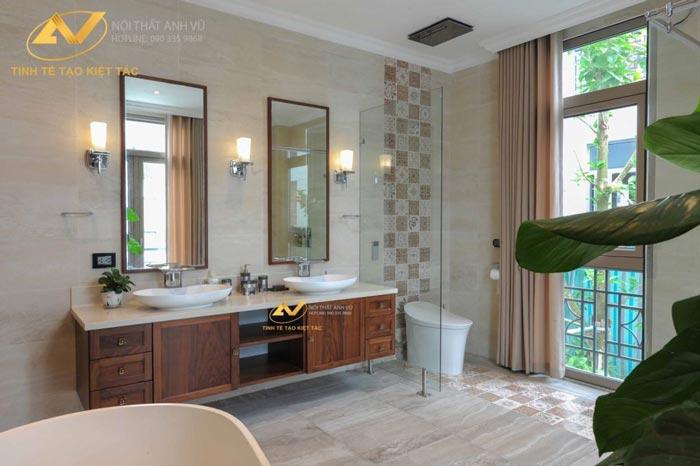 thiết kế nội thất biệt thự tại Long Biên Hà Nội phòng tắm Mr Minh 2