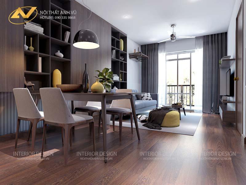 thiết kế nội thất chung cư phòng ăn đẹp mr Đạt Kim Giang Hà Nội