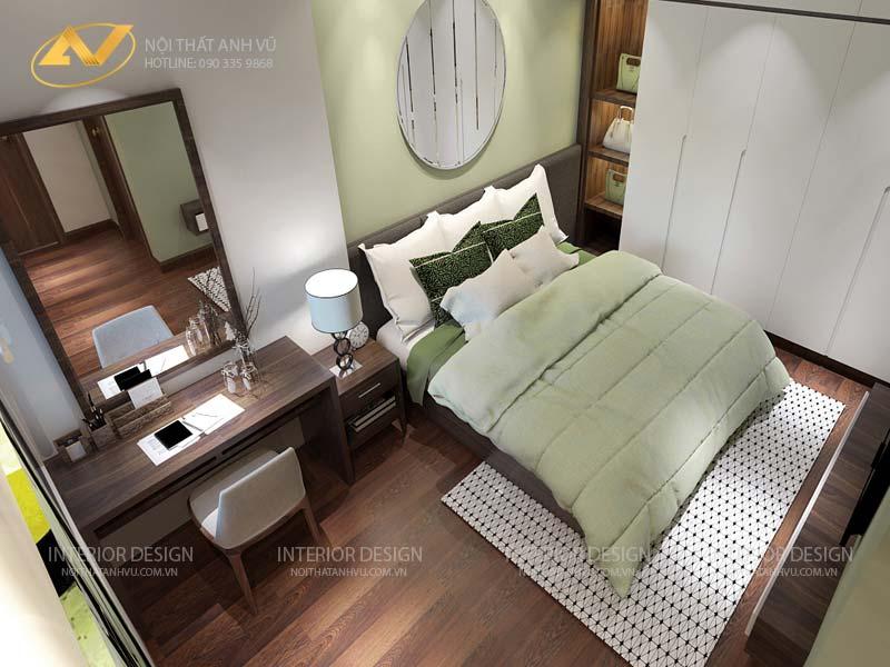 thiết kế nội thất chung cư phòng ngủ đẹp tiện lợi mr Đạt Kim Giang Hà Nội