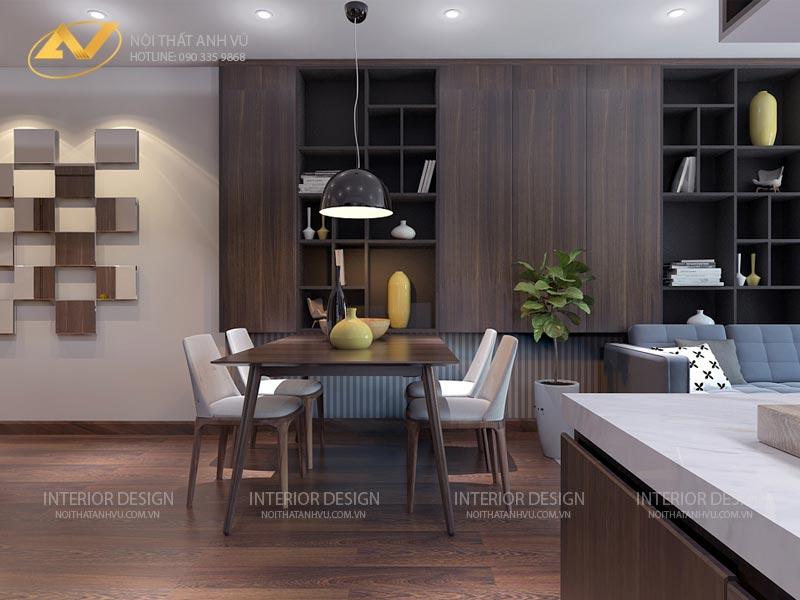 thiết kế nội thất chung cư tủ trang trí sang trọng mr Đạt Kim Giang Hà Nội