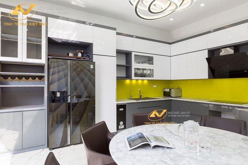 thiết kế nội thất phòng bếp tiện nghi sang trọng mr Long Từ Sơn Bắc Ninh