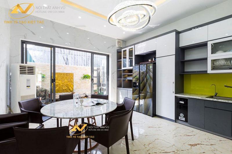 thiết kế nội thất phòng bếp đẹp sang trọng tiện nghi mr Long Từ Sơn Bắc Ninh