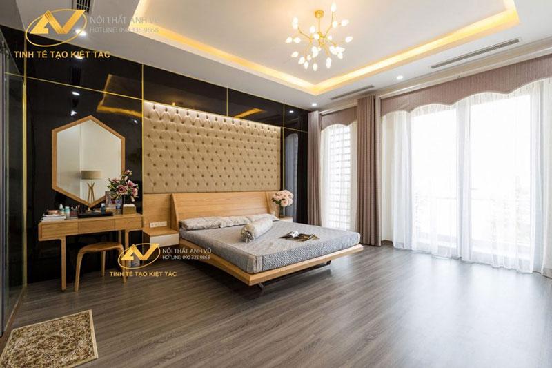nội thất phòng ngủ được thiết kế bắt mắt