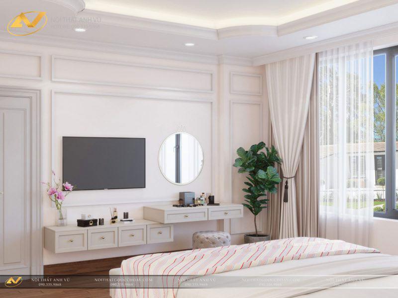 thiết kế nội thất phòng ngủ đẹp bắt mắt mr Thạch Gamuda