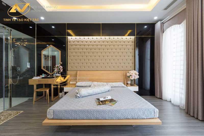 thiết kế nội thất phòng ngủ đẹp thuận tiện mr Long Từ Sơn Bắc Ninh