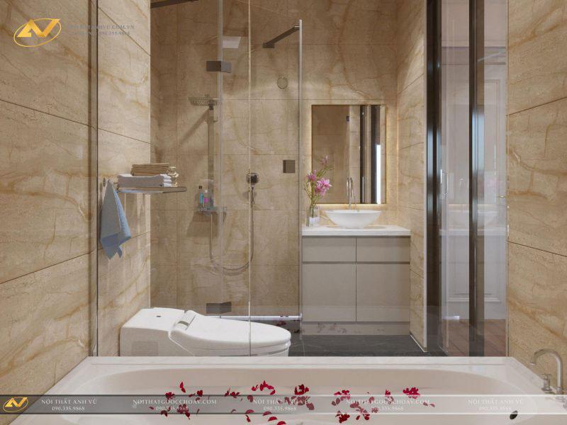 thiết kế nội thất phòng tắm đẹp hiện đại