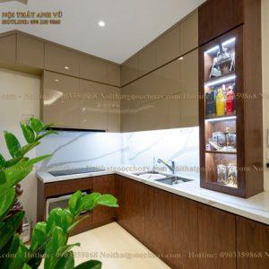 tủ bếp gỗ óc chó avtb 002-1