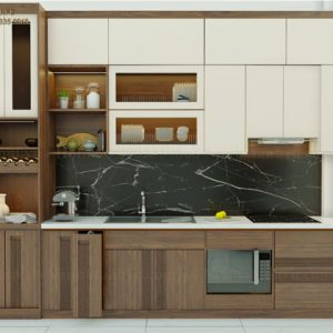 tủ bếp gỗ óc chó avtb 004-1
