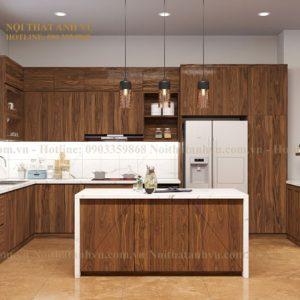 tủ bếp gỗ óc chó avtb 006-1