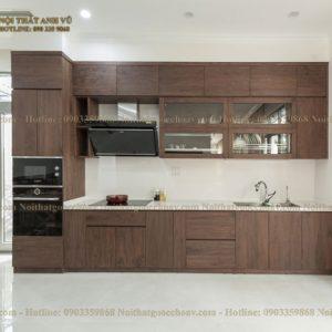 tủ bếp gỗ óc chó avtb 008-1