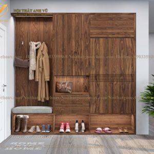 tủ để giày gỗ óc chó avtg001-1