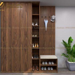 tủ để giày gỗ óc chó avtg 003-1