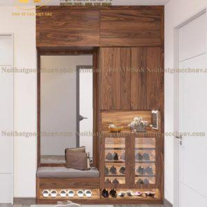 tủ để giày gỗ óc chó avtg 004-1