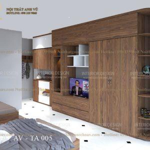 tủ quần áo gỗ óc chó avta005-1