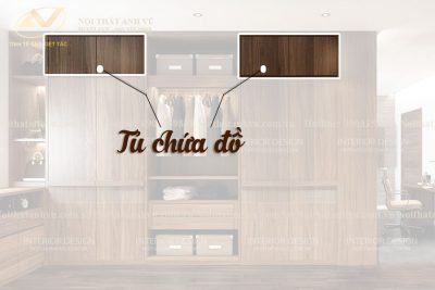 Tủ 3 buồng gỗ óc chó AV-TA 003 - Nội thất Anh Vũ