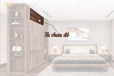 Tủ quần áo 2 buồng gỗ óc chó AV-TA 005 - Nội thất Anh Vũ
