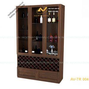 tủ rượu gỗ óc chó avtr004