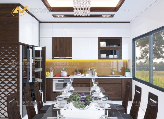 thiết kế nội thất gỗ óc chó quảng ninh img2