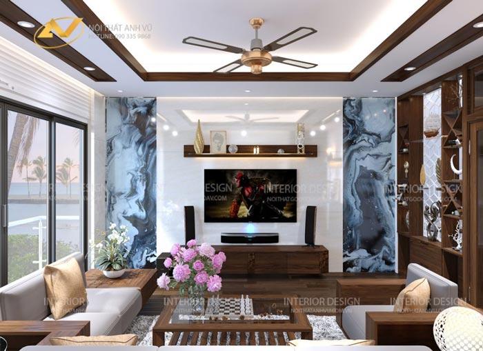 thiết kế nội thất gỗ óc chó quảng ninh 6