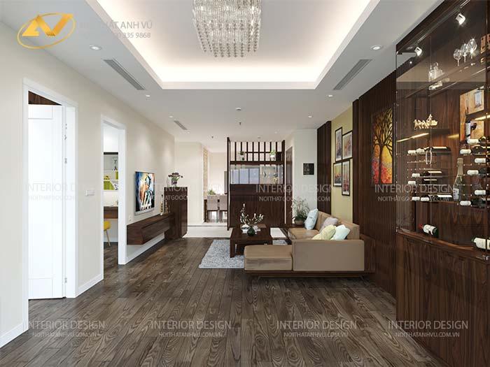 thiết kế nội thất gỗ óc chó quảng ninh 8