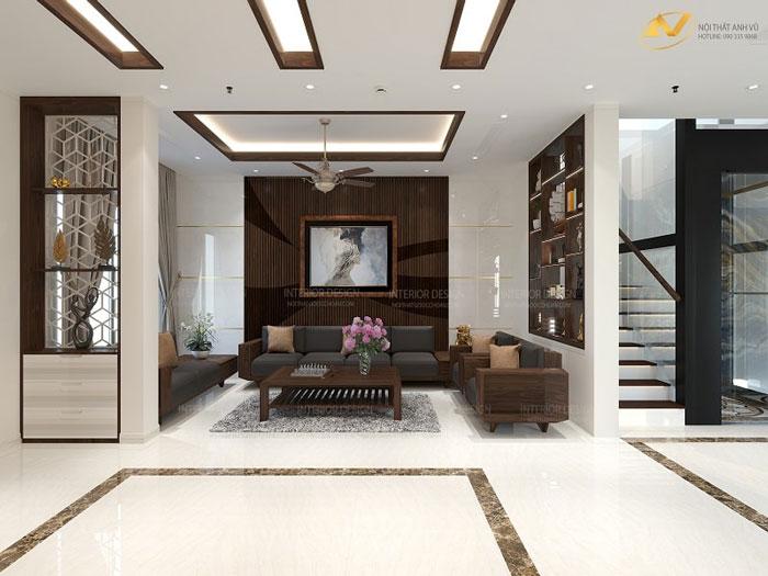 thiết kế nội thất gỗ óc chó hạ long quảng ninh 5