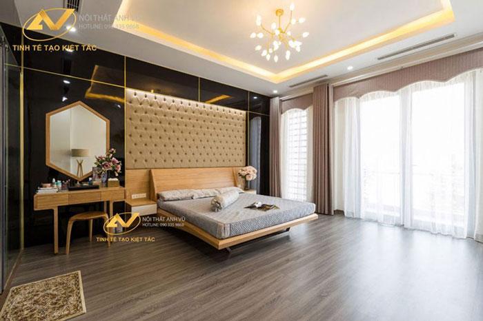 thiết kế nội thất gỗ óc chó quảng ninh 11